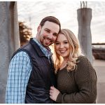 Urban December Christmas engagement session in Memphis